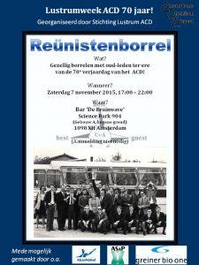 Poster oud-ledenborrel - nieuw